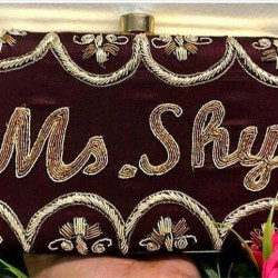 Customized Single Side Embroidery Clutch (Delivery time 3-4 Weeks)