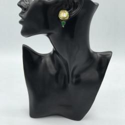 Green Studs Earrings