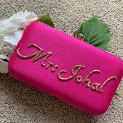 Customized Named Clutch Pink (Delivery time 3-4 Weeks)