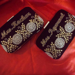 Customized Clutch With Both Side Embroidery (Delivery time 3-4 Weeks)