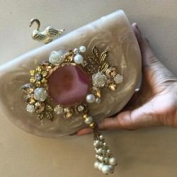 Customized Raisin Clutch (Delivery time 3-4 Weeks)