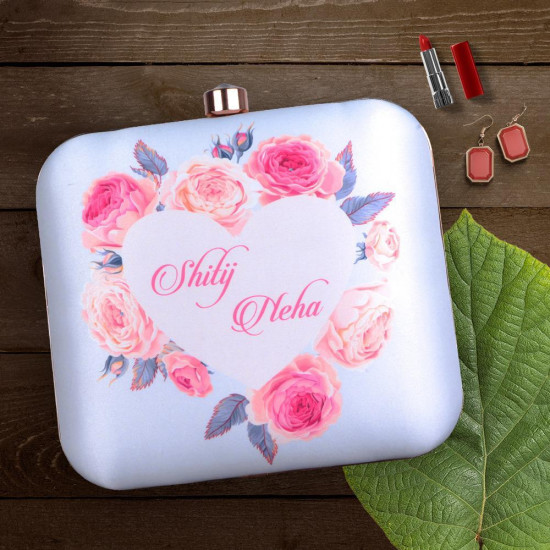 Customized Flower Heart Clutch (Delivery time 3 to 4 Weeks)