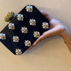 Black Raisin Clutch (Delivery time 3-4 Weeks)