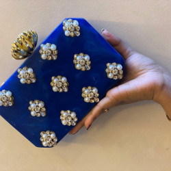 Blue Raisin Clutch (Delivery time 3-4 Weeks)