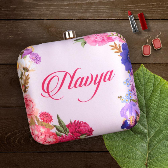 Customized Flower Print Clutch (Delivery time 3 to 4 Weeks)