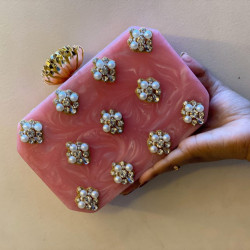 Pink Raisin Clutch (Delivery time 3-4 Weeks)
