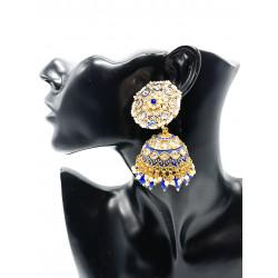 Blue Jhumki Earrings
