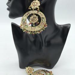 Jadau Multicoloured Earrings