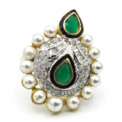 Emerald Ring With CZ