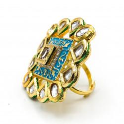 Blue Meena Ring