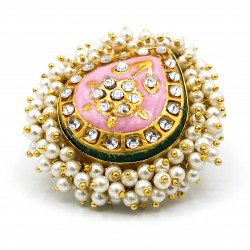 Pink Meena Ring