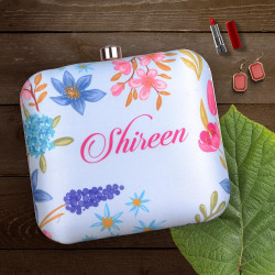 Flower Print Square Clutch (Delivery time 3-4 Weeks)