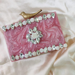Raisin pink Clutch (Delivery time 3 to 4 Weeks)